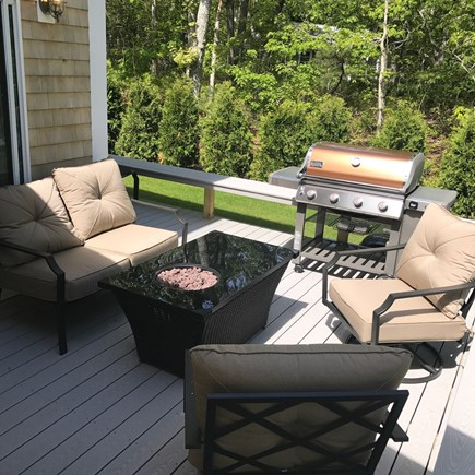 Oak Bluffs Martha's Vineyard vacation rental - Brand new patio furniture set with fire pit and Weber gas grill