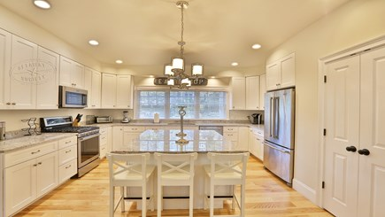 Oak Bluffs Martha's Vineyard vacation rental - Spacious kitchen with island and plenty of sunlight!