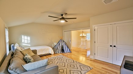 Oak Bluffs Martha's Vineyard vacation rental - 2nd floor living rm/bedroom w/sleeper sofa, twin, & en suite bath