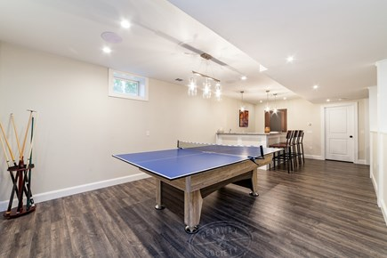 Oak Bluffs Martha's Vineyard vacation rental - Basement w/combo pool/ping pong table, wet bar, and 55-inch TV