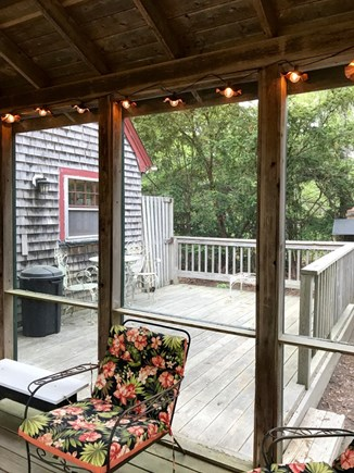 Oak Bluffs Martha's Vineyard vacation rental - There is a nice deck off the porch and enclosed outdoor shower
