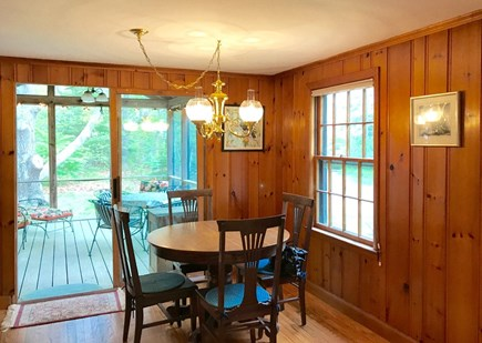 Oak Bluffs Martha's Vineyard vacation rental - Dining area with sliders to the screened porch