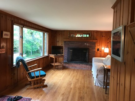 Oak Bluffs Martha's Vineyard vacation rental - Living room opens to the dining area