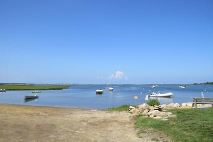 Edgartown Martha's Vineyard vacation rental - 1/2 mile from your door to Sengenkontacket  town landing.