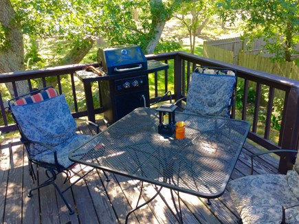 Edgartown Martha's Vineyard vacation rental - Door from the kitchen/dining area leads to the deck