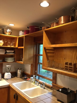 Vineyard Haven Martha's Vineyard vacation rental - Kitchen Sink And Drying Racks.