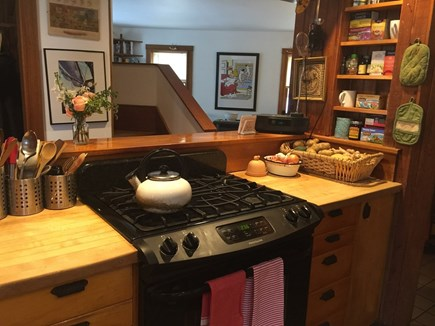 Vineyard Haven Martha's Vineyard vacation rental - Kitchen Stove And Counter.