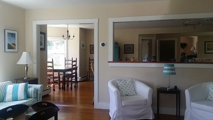 Edgartown Martha's Vineyard vacation rental - The Family Room Is Open to Kitchen and Breakfast Room