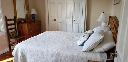 Edgartown Martha's Vineyard vacation rental - First Floor Queen Bedroom Has Private Bath and Outdoor Deck.