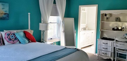 Edgartown Martha's Vineyard vacation rental - Large & Lovely Master Bedroom with new marble en suite bath.