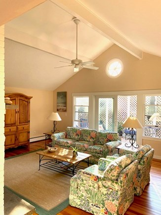 Edgartown Martha's Vineyard vacation rental - Living Room with Cathedral Ceiling