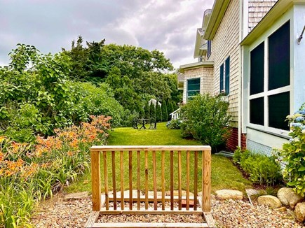 Edgartown Martha's Vineyard vacation rental - Bike Rack, Lilies and Side Yard