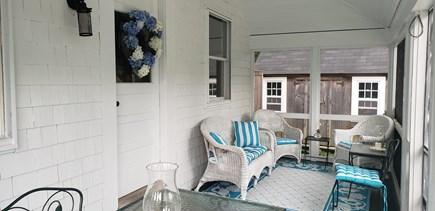 Edgartown Martha's Vineyard vacation rental - Front Screened Porch & Bike Shed