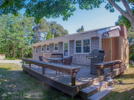 Katama - Edgartown Martha's Vineyard vacation rental - Large Back Deck with outdoor shower