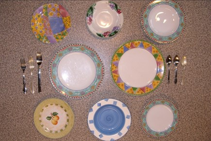 West Tisbury Martha's Vineyard vacation rental - Our plate don't match, but the food tastes great!