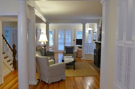 Oak Bluffs Martha's Vineyard vacation rental - Lovely living room with fireplace