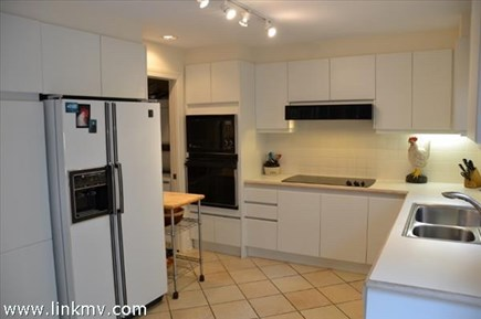 Vineyard Haven Martha's Vineyard vacation rental - Eat-in kitchen, with adjacent laundry.