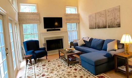 Vineyard Haven Martha's Vineyard vacation rental - Newly furnished living room. Sofa opens to sleep two.