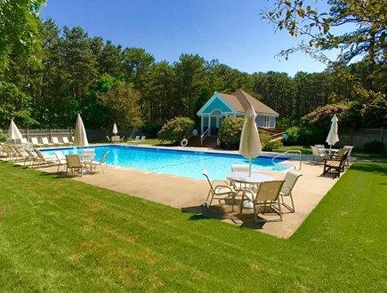 Vineyard Haven Martha's Vineyard vacation rental - Another view of the pool with pool house.