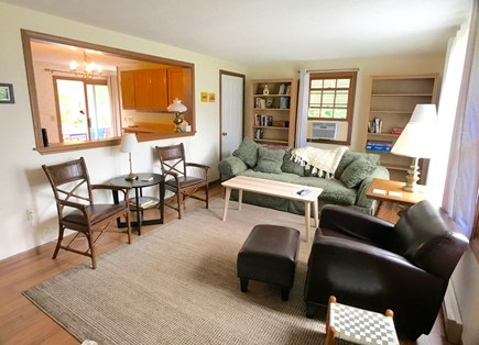 Vineyard Haven Martha's Vineyard vacation rental - Living room opens to kitchen and dining area