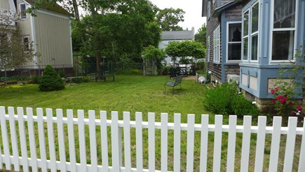 Oak Bluffs Martha's Vineyard vacation rental - Side yard for Family Games and BBQ's