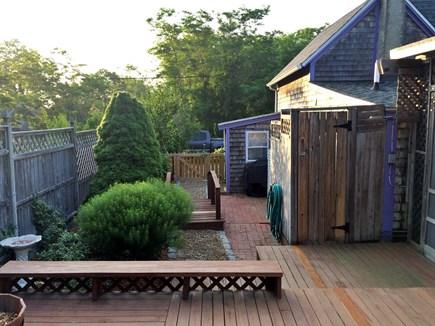 Oak Bluffs Martha's Vineyard vacation rental - Outdoor shower & landscaping (We almost never shower inside!).
