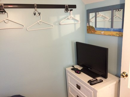 Oak Bluffs Martha's Vineyard vacation rental - King bedroom flat screen TV with built in DVD & Comcast cable.