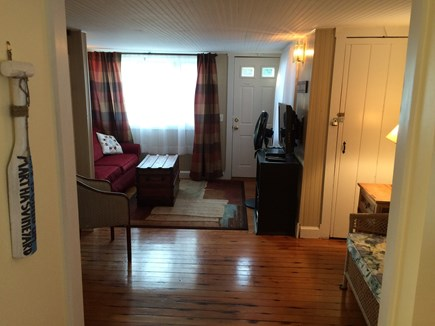 Oak Bluffs Martha's Vineyard vacation rental - Living Room with queen sofa bed. TV, internet, DVD's and more.