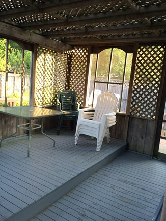 Oak Bluffs Martha's Vineyard vacation rental - Screened porch with light and electric. Our favorite spot!