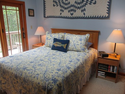 Katama - Edgartown Martha's Vineyard vacation rental - Upstairs bedroom.  Note access to upper deck.