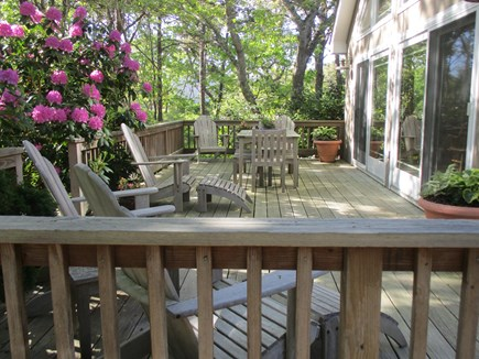 Katama - Edgartown Martha's Vineyard vacation rental - Large first floor deck invites quiet reads and leisurely meals.