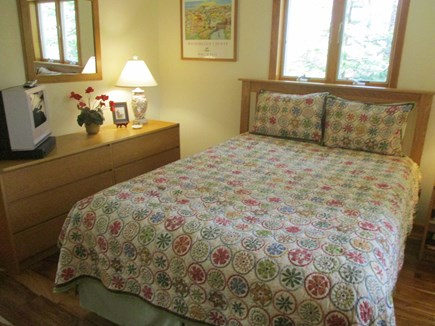 Katama - Edgartown Martha's Vineyard vacation rental - Downstairs bedroom with queen mattress.