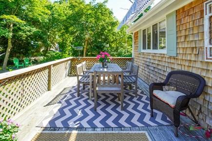 Oak Bluffs Martha's Vineyard vacation rental - Large deck great for hanging out & dining al fresco.