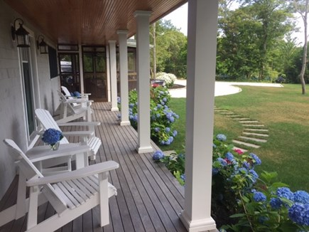 Oak Bluffs, East Chop Martha's Vineyard vacation rental - Farmers porch with access to screened porch