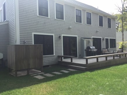 Oak Bluffs, East Chop Martha's Vineyard vacation rental - Back of house has private deck, outdoor shower, gas grill.