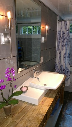 Oak Bluffs Martha's Vineyard vacation rental - Bathroom with tub and shower (additional outdoor shower & sink)