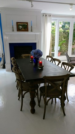 Oak Bluffs Martha's Vineyard vacation rental - Dinning for 8 with wood burning fireplace