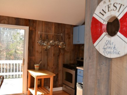 Chilmark Martha's Vineyard vacation rental - A view from the living room into the kitchen.