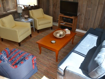 Chilmark Martha's Vineyard vacation rental - Living room with flat screen cable TV perfect for relaxing.