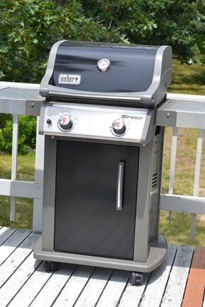 Chilmark Martha's Vineyard vacation rental - Weber grill next to kitchen makes outdoor cooking easy.