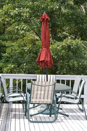Chilmark Martha's Vineyard vacation rental - Enjoy dining/cocktails on the deck.