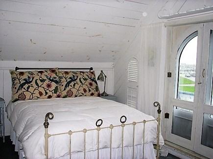Oak Bluffs Martha's Vineyard vacation rental - Master bedroom w/private bathroom & balcony w/water views!