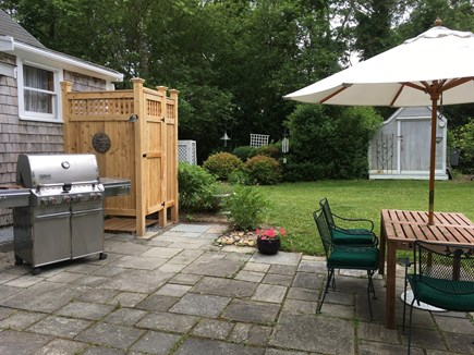Oak Bluffs, East Chop Martha's Vineyard vacation rental - Patio with grill and outdoor shower