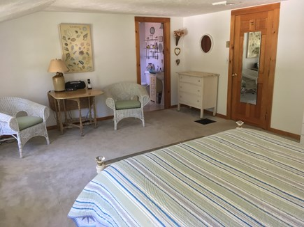Oak Bluffs, East Chop Martha's Vineyard vacation rental - Master bedroom with sitting area and master bathroom