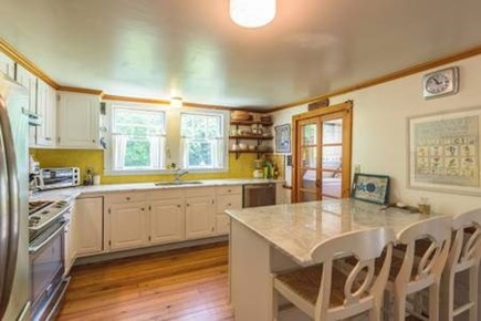 Oak Bluffs, East Chop Martha's Vineyard vacation rental - Kitchen with center island