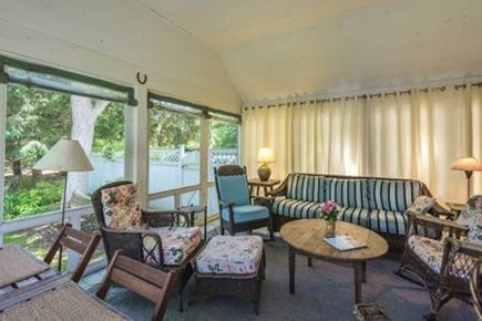 Oak Bluffs, East Chop Martha's Vineyard vacation rental - Screened porch