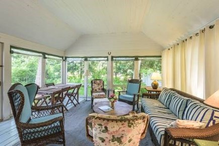Oak Bluffs, East Chop Martha's Vineyard vacation rental - Screened porch with dinning table