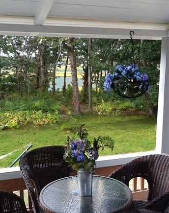 Oak Bluffs Martha's Vineyard vacation rental - Pondview from covered porch