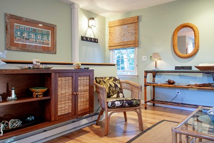 Katama - Edgartown Martha's Vineyard vacation rental - Petite entertainment center with cable TV and wireless internet.