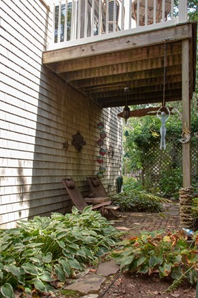 Katama - Edgartown Martha's Vineyard vacation rental - Secluded patio and garden area with propane grill.